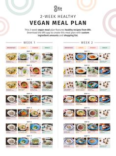 vegan weightloss recipes - One and TwoWeek Vegan Meal Plans Vegan Meal Plans, Vegan Meal Prep, Keto Meal Plan, Diet Meal Plans, Vegan Weekly Meal Plan, Veggie Meal Plan, Healthy Vegetarian Meal Plan, One Week Meal Plan, Vegetarian Italian