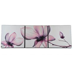 Nowoczesne obrazy - tryptyk kwiat