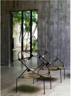Flavio de Carvalho chair in a Paulo Mendes da Rocha space.