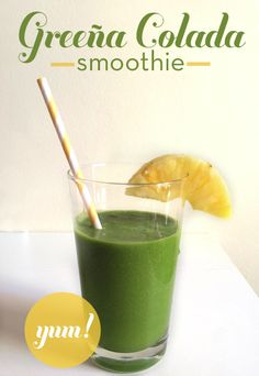 Banana, Pineapple and Kale - first thing in the morning! Great way to get your day started.