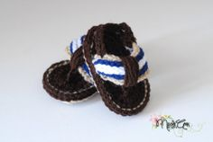 Hey, I found this really awesome Etsy listing at http://www.etsy.com/listing/104706877/baby-boy-crochet-flip-flop-sandals