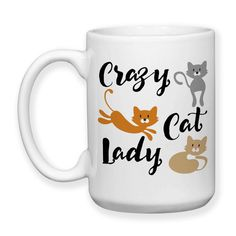 Crazy Cat Lady, Humor, Cats, Kittens, Pets, Love My Cats, Kitties, Cute Cats, Crazy Cat Lady Gift, Typography, 15 oz, Coffee Mug, Coffee Cup, Cocoa Mug, Tea Mug, Dishwasher Safe / Microwave Safe    ★★★★★★★★★★★★★★★★★★★★★★★★★★★★★★★★★★★★★★★★★★★    This mug design is professionally created and inked in FL. USA.    Each item is made after receiving an order, and due to the hand made and custom designed nature the items can vary slightly from the picture shown. Monitors may display colors…