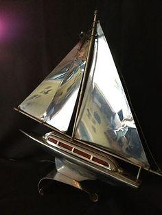 Vintage-Nautical-Art-Deco-SAIL-BOAT-Ship