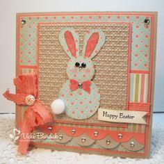 Easter Bunny punch art card - bjl