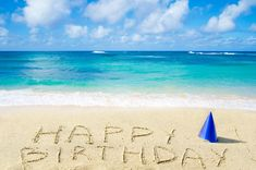 Happy Birthday Beach Images, Birthday At The Beach, Happy Birthday My Love, Birthday Cards For Friends, Happy Birthday Wishes, Friend Birthday, Ocean Themes, Travel Themes, Beach Pictures