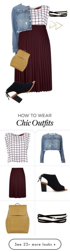 """Plus Fall Work Look 2/Easy Chic"" by xtrak on Polyvore featuring Evans, TOMS, Accessorize and Kenneth Jay Lane"