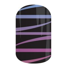 Ombre ribbons against a black background dance playfully across this glossy wrap. #RibbonDanceJN Bev's Jammin' Nails Jamberry Nail Wraps www.bkimball.jamberrynails.net