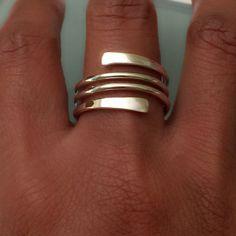 Sterling Silver Swirl Ring Swirl ring van EllynBlueJewelry op Etsy