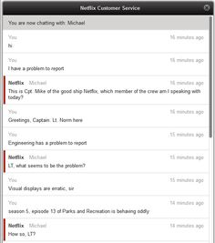 A man messaged Netflix customer support. He ended up having the best customer service chat ever.