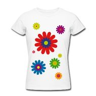 T-Shirts ~ Frauen T-Shirt von American Apparel ~ flower power 03