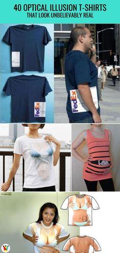 db4a1d728 40 Optical Illusion T-Shirts That look Unbelievably Real #opticalillusions  #teeshirtdesigns #creativetshirtdesigns