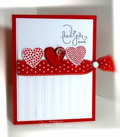 Stampin' Up! Valentine Love you much Cute Cards, Diy Cards, Valentine Love Cards, Valentine Ideas, Valentine Heart, Karten Diy, Creative Cards, Anniversary Cards, Greeting Cards Handmade