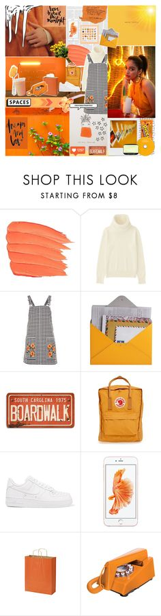 """~EXIST LOUDLY~"" by justgirlycouture ❤ liked on Polyvore featuring Nicole Miller, So It Goes, Holga, Uniqlo, Topshop, Design 55, Hershey's, Fjällräven, NIKE and Outliving"