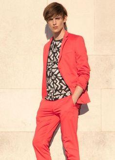 Summer colour suits by Topman