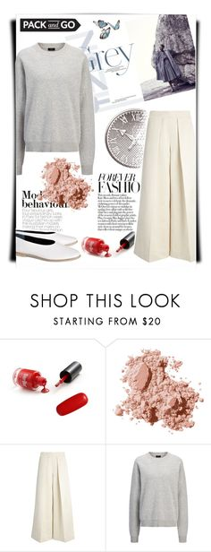 """""""Light-weight"""" by theitalianglam ❤ liked on Polyvore featuring Monique Lhuillier, Bobbi Brown Cosmetics, Joseph, joseph and Packandgo"""