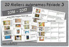 20 ateliers autonomes individuels GS pour la période 3