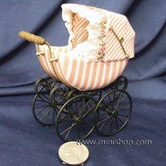 victorian pram | Apricot Victorian Pram, Germany | TINY CARRIAGES AND PRAMS | Pinterest