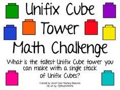 Unifix Cube Tower Math Challenge Project