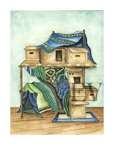 CardBoard Box Fort by ErinVaughan on Etsy