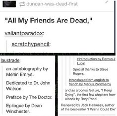 """All My Friends Are Dead"" BBC Edition"