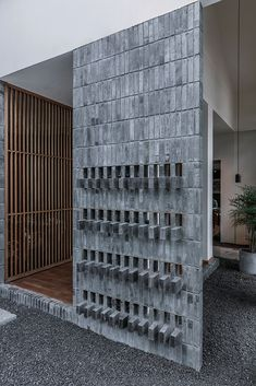 TEMP combines timber and granite to design ajia teahouse in a chinese national park Cladding Design, Facade Design, Wall Design, Cafe Interior, Modern Interior, Interior Design, Bamboo Structure, 3d Texture, Built Environment