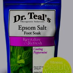 Dr. Teal's Peppermint Epsom Salt Foot Soak....This stuff is the best for soothing & softening sore feet after a long day in heels...or if you run around barefoot like me most of the time & just need to take care of your feet. It's my all time favorite at home treatment :)