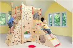 CedarWorks Rhapsody Indoor Playsets and Playhouses Bring Active Play Inside All Winter Long --- ►but it's still better for children to be outdoors!