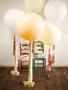 Geronimo balloons - my favs for parties & showers.