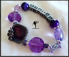 BALTIMORE RAVENS JEWELRY Bracelet by SWANKEE on Etsy