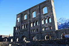 Roman Theatre, Aosta, Valle d'Aosta, Italy