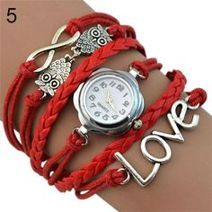 Women's Multilayer Quartz Bracelet Watch Infinity Love Owl
