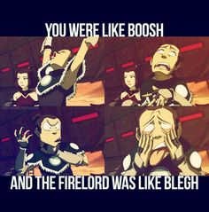LOL! A 30 min fight summed up in two sentences :) #Sokka