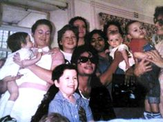 Michael Jackson au Great Ormond Street Hospital de Londres, le 20 juillet 1988