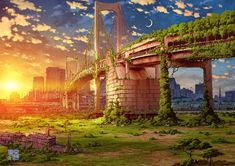 Post-Apocalyptic Illustrations of Tokyo in Ruins | Spoon & Tamago
