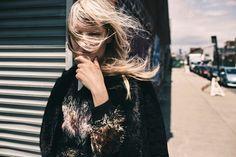 Kirsten Owen wearing 70s inspired outerwear looks Pose in Vogue Ukraine Magazine November 2015 editorial Photoshoot