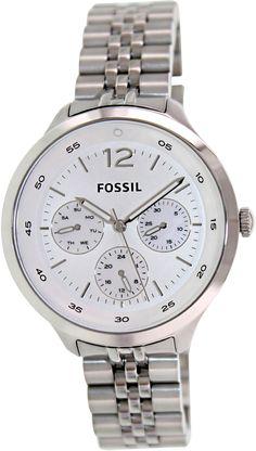 Fossil Women's Georgia ES3247 Silver Stainless-Steel Quartz Watch with Silver Dial: Fossil: Amazon.co.uk: Watches