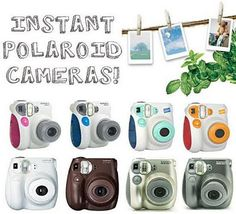 <3 Instax Minis! I have the pink Instax Mini 7s and I love it and it's wallet loving credit card sized photos!  http://filmfunfilmfun.tumblr.com/post/32753389650/introducing-the-instax-mini-7s   #review #cute #instant film #colorful #camera #photography