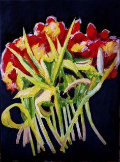 Tulip, 30X40 cm acrylic canvas Anthony van Gelder 2014