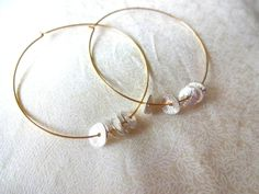 14k Gold Fill Hoop and Sterling Silver Delicate by KalosandCo, $42.00
