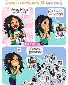 No puedo evitarlo. Cute Couples, Anime Couples, Relationship Comics, Couples Comics, Pinterest Memes, Mini Comic, Spanish Memes, Book Memes, Romance