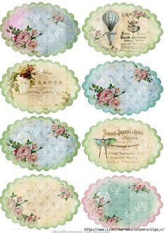 39 ideas vintage paper printable decoupage cards for 2019 Vintage Tags, Vintage Labels, Vintage Prints, Vintage Roses, Decoupage Vintage, Vintage Paper, Printable Labels, Free Printables, Etiquette Vintage