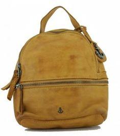!!!Damenrucksack Mustard gelb Harbour2nd Sissy Anchorlove Vintage Stil, Leather Backpack, Backpacks, Bags, Fashion, Yellow, Handbags, Moda, Leather Backpacks