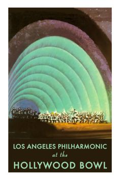 Los Angeles Philharmonic at the Hollywood Bowl!!  I have this print in our bedroom from an amazing evening at the bowl.  I love the sound from this iconic place.