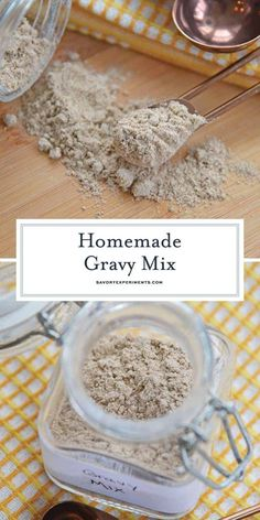 Forget the ready gravy mix from the store, make your own Homemade Gravy Mix with just three simple ingredients and no time at all! Homemade Gravy Recipe, Homemade Dry Mixes, Brown Gravy Recipe, Homemade Spices, Homemade Seasonings, Au Jus Gravy Mix Recipe, Homemade Brown Gravy Mix Recipe, Chicken Gravy Mix Recipe, Homemade Food