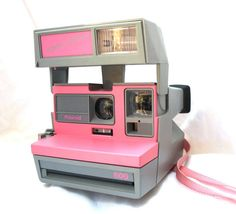 Vintage Polariod 600 Cool Cam Camera - Pink with Grey Body