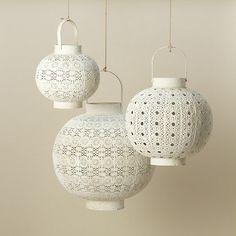 White Filigree Lanterns