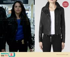 Cat's leather jacket on Beauty and the Beast. Outfit Details: http://wornontv.net/27400 #BATB #fashion