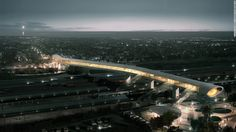 """There's more than meets the eye with this structure. The bridge, designed collaboratively by <a href=""""http://www.cobe.dk/"""" target=""""_blank"""">COBE Architects</a> <a href=""""http://www.dw.dk/"""" target=""""_blank"""">Dissing + Weitling</a> and <a href=""""http://www.cowi.com/menu/home/"""" target=""""_blank"""">COWI</a>, includes passageways for both trains and cars, as well as a full station and park-and-ride faciliti..."""