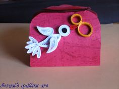 Quilling on Wedding Favor Boxes - by: Sergal's quilling art