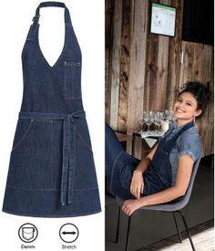 Blue Jean Purses, Sewing Paterns, Work Aprons, Uniform Design, Sewing Aprons, Recycle Jeans, Apron Designs, Jeans Bleu, Aprons Vintage